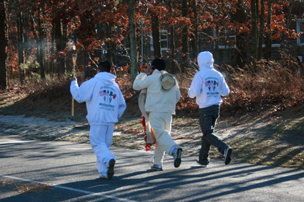 by running from Red Creek Park in Hampton Bays to a church in Southampton. JESSICA DINAPOLI