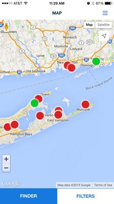 which helps boaters find open slips along the East Coast.