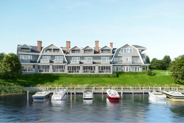 A rendering of what the townhomes will look like once complete. COURTESY GREG GORDON