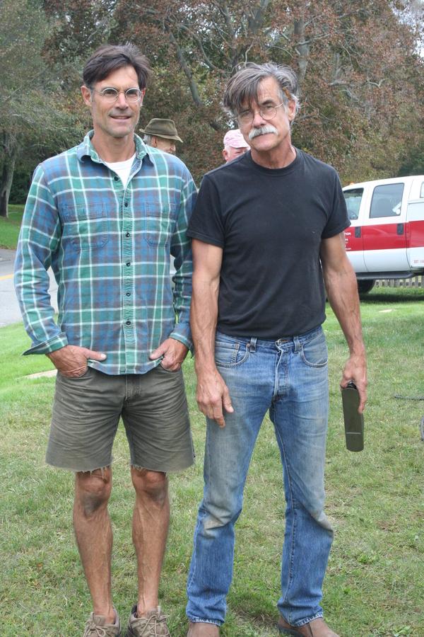 Paul Hamilton and Richard Baxter of Baxter Restoration at Hook Mill. VIRGINIA GARRISON