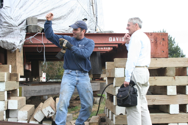 Guy Davis of Davis Construction and Robert Hefner