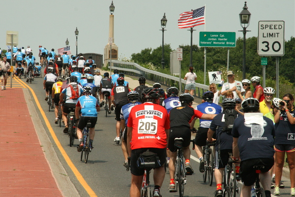 Soldier Ride to benefit the Wounded Warrior Project made its way through the East End on Saturday.