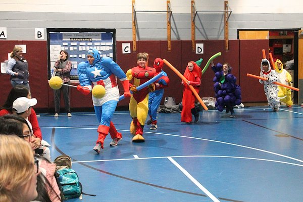 The John Marshall Elementary School students dressed up as super heroes