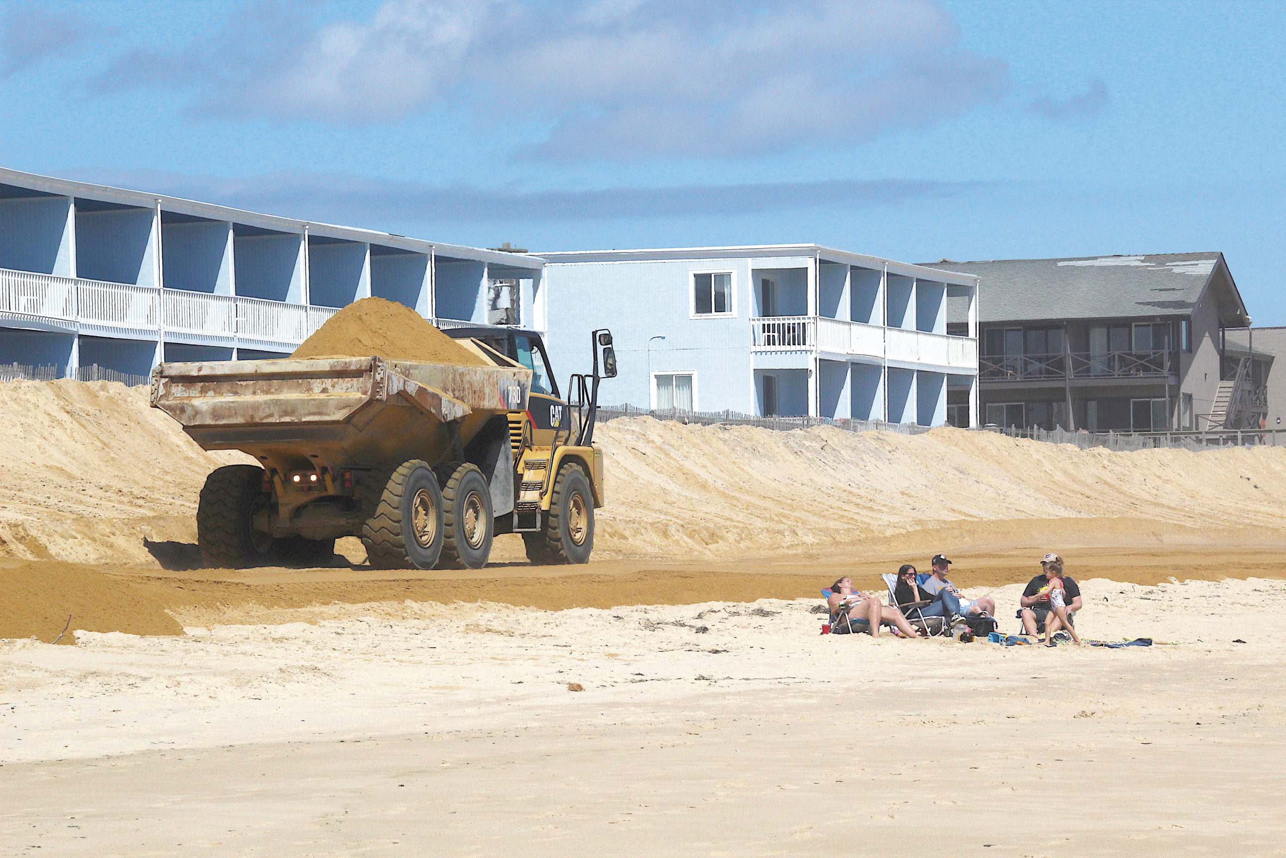 Rites of Spring April 24 -- The ocean beach in downtown Montauk was rebuilt in preparation for summer 2019, as it had been in previous years. East Hampton Town had more than 50,000 tons of sand trucked in to cover sandbags intended to protect oceanfront hotels and other properties, at a cost of slightly more than $1 million to be split between the town and Suffolk County.