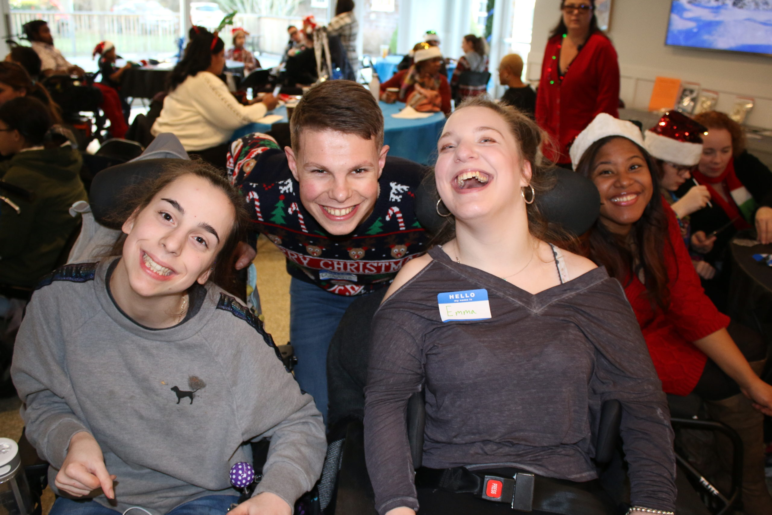 Southampton Fresh Air Home for physically challenged youth hosted its annual holiday party on Saturday, December 7, welcoming more than 125 former and current campers, along with friends and family. The home's volunteers and counselors served lunch and distributed gifts purchased with donations received on #GivingTuesday. There was even a visit from Santa. Southampton Fresh Air Home offers both summer camp programs and year-round programs providing recreational and educational activities. NIELS SCHRODER