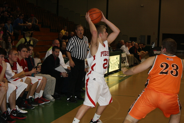 Joey Butts led Pierson with 10 points in the loss to East Rockaway. CAILIN RILEY