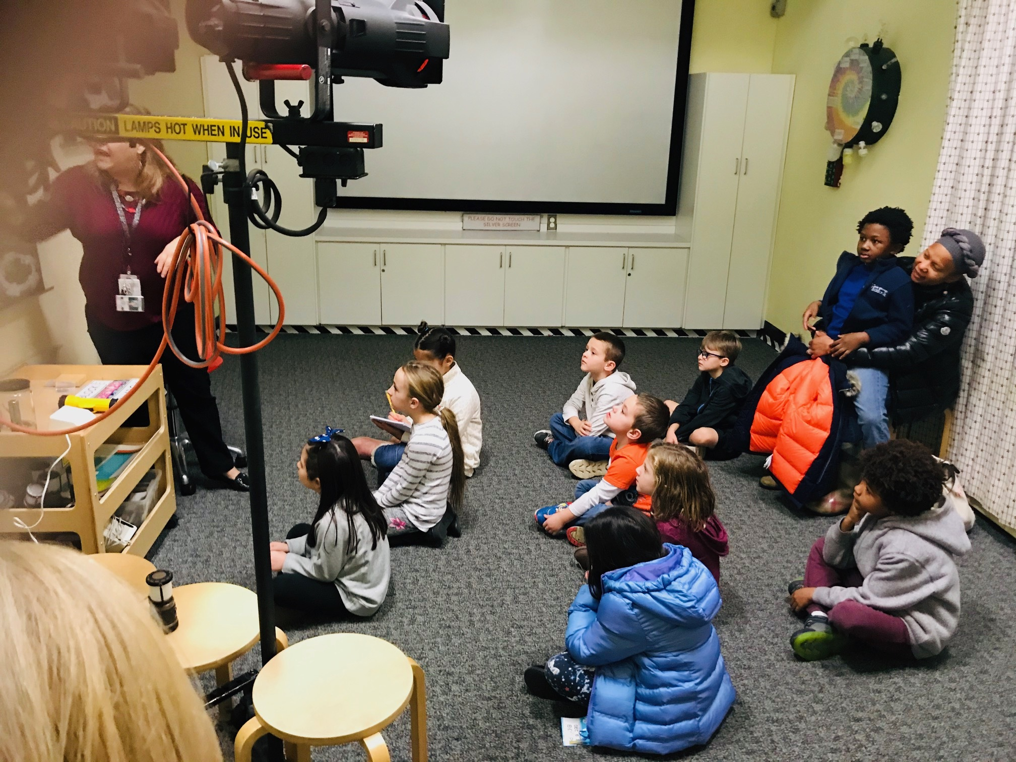 Home-schooled students in grades one through third visited Brookhaven National Lab this week. COURTESY TERESA LOOS.