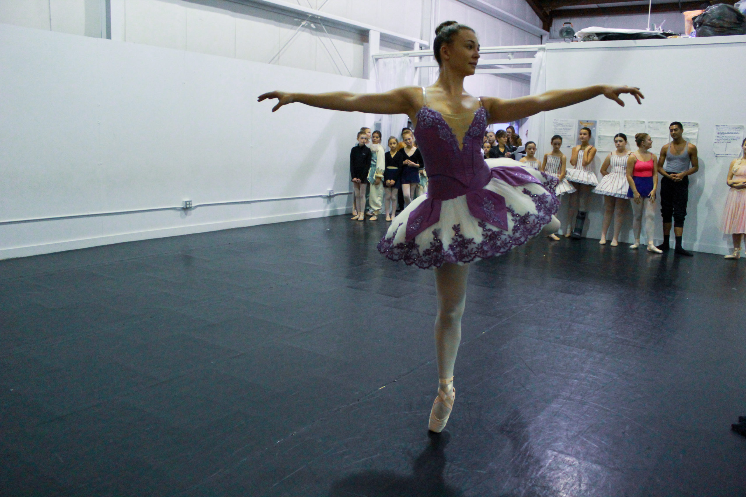 A recent rehearsal of the Hampton Ballet Theatre School's production of The Nutcracker.