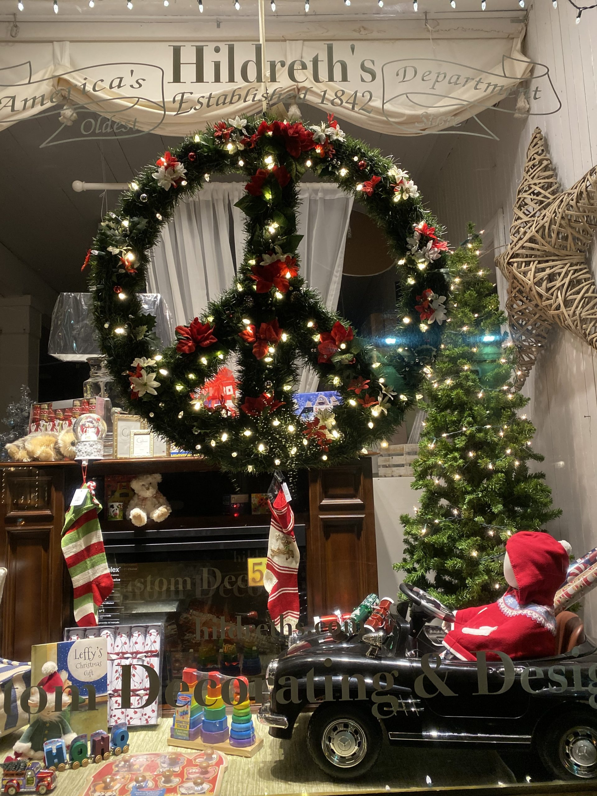 Hildreth's Department Store took first place in the window decorating contest sponsored by the Village of Southampton. DANA SHAW
