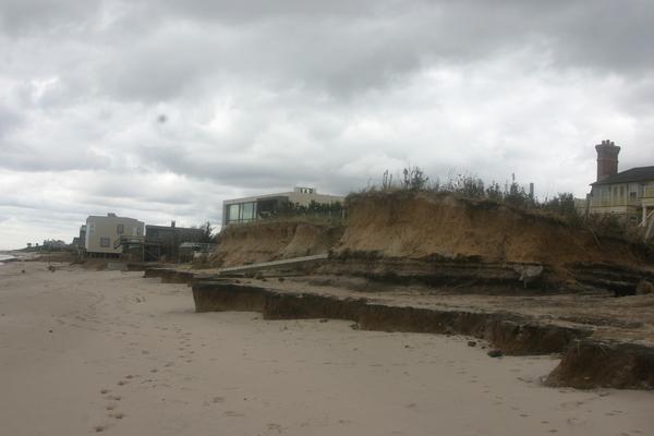 Erosion along the Sagaponack oceanfront.  MICHAEL WRIGHT