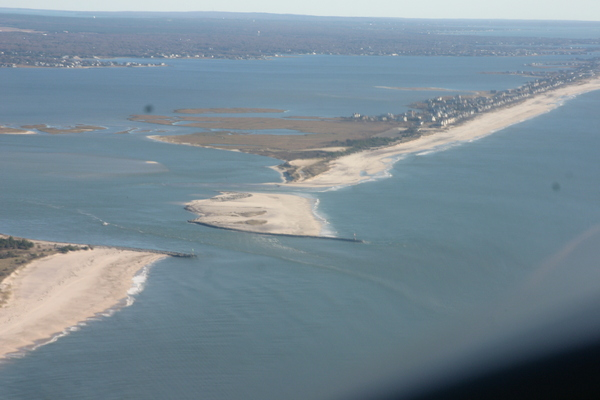 but did not breach the barrier island.  MICHAEL WRIGHT