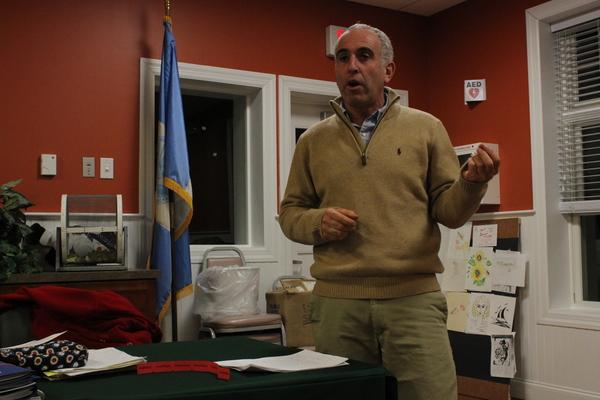Suffolk County Legislator Jay Schneiderman speaks before the Flanders