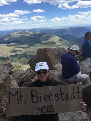 April Jakubauskas after climbing Mt. Bierstadt in Colorado. KELLY ZEGERS