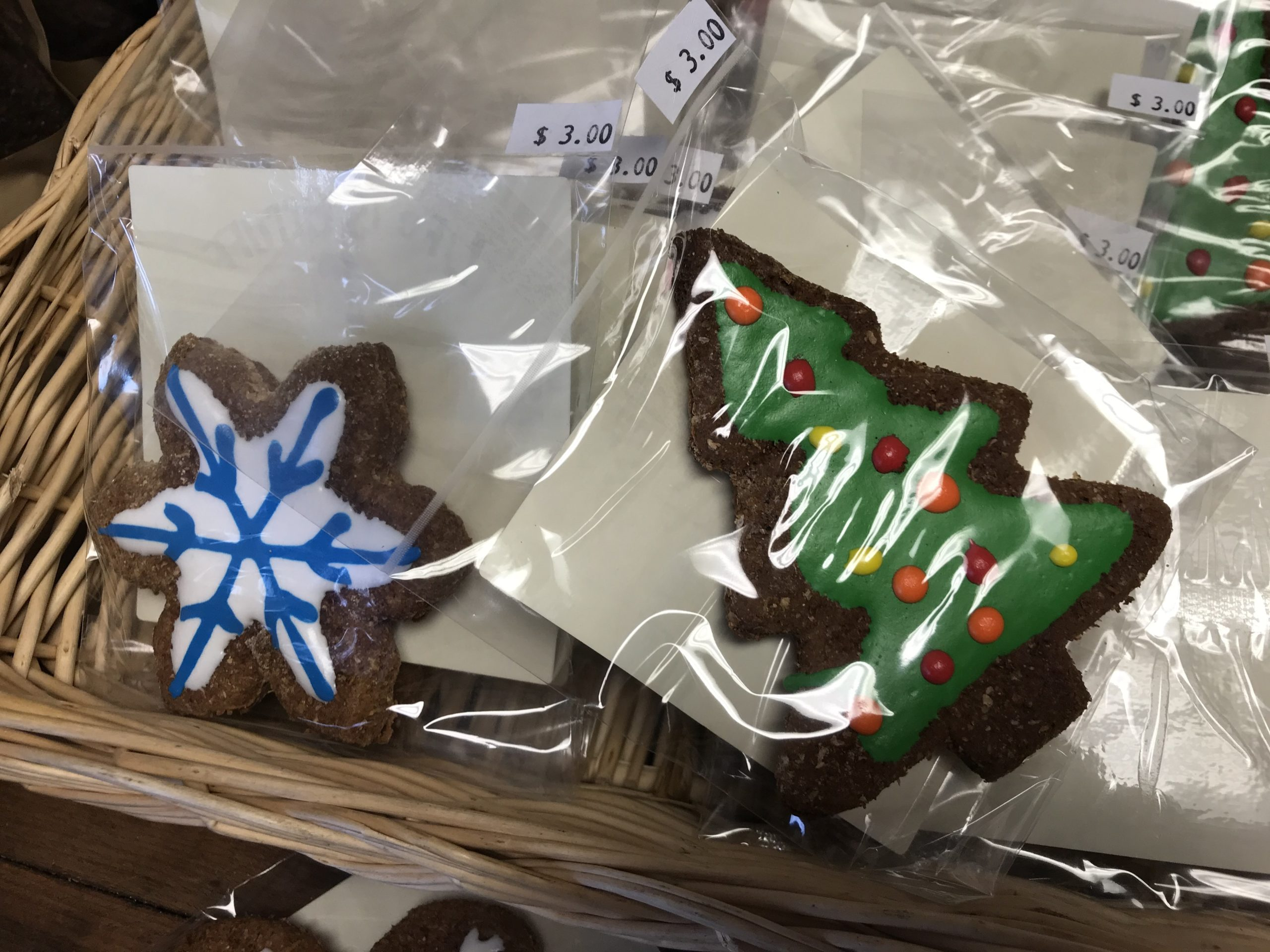 Christmas cookies for dogs.    VIRGINIA GARRISON