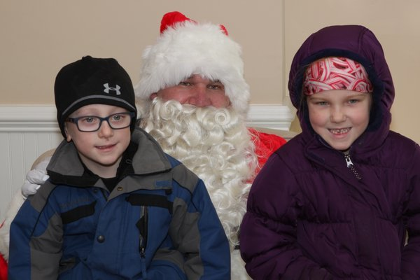 The Village Green was packed with revelers during Winterfest in Westhampton Beach on Saturday