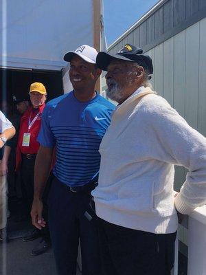 Tiger Woods with Lubin Hunter.  COURTESY ROBERTA HUNTER