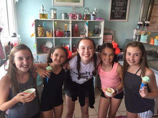 Thea and her Gateway classmates celebrated with ice cream after rehersal back in summer 2016. COURTESY THEA FLANZER