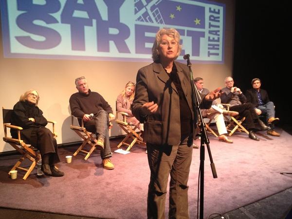 Jane Holden addresses the crowd.