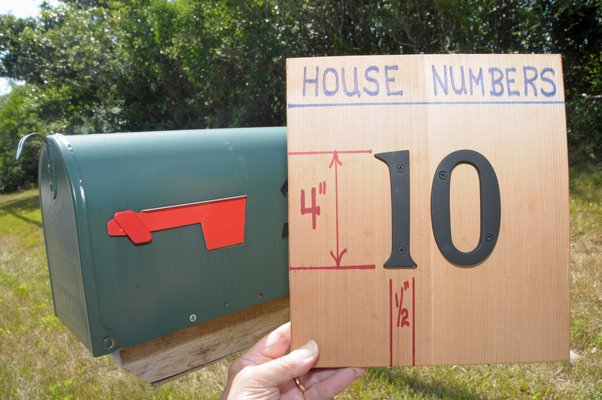 House numbers should be visible from the street. RICHARD LEWIN