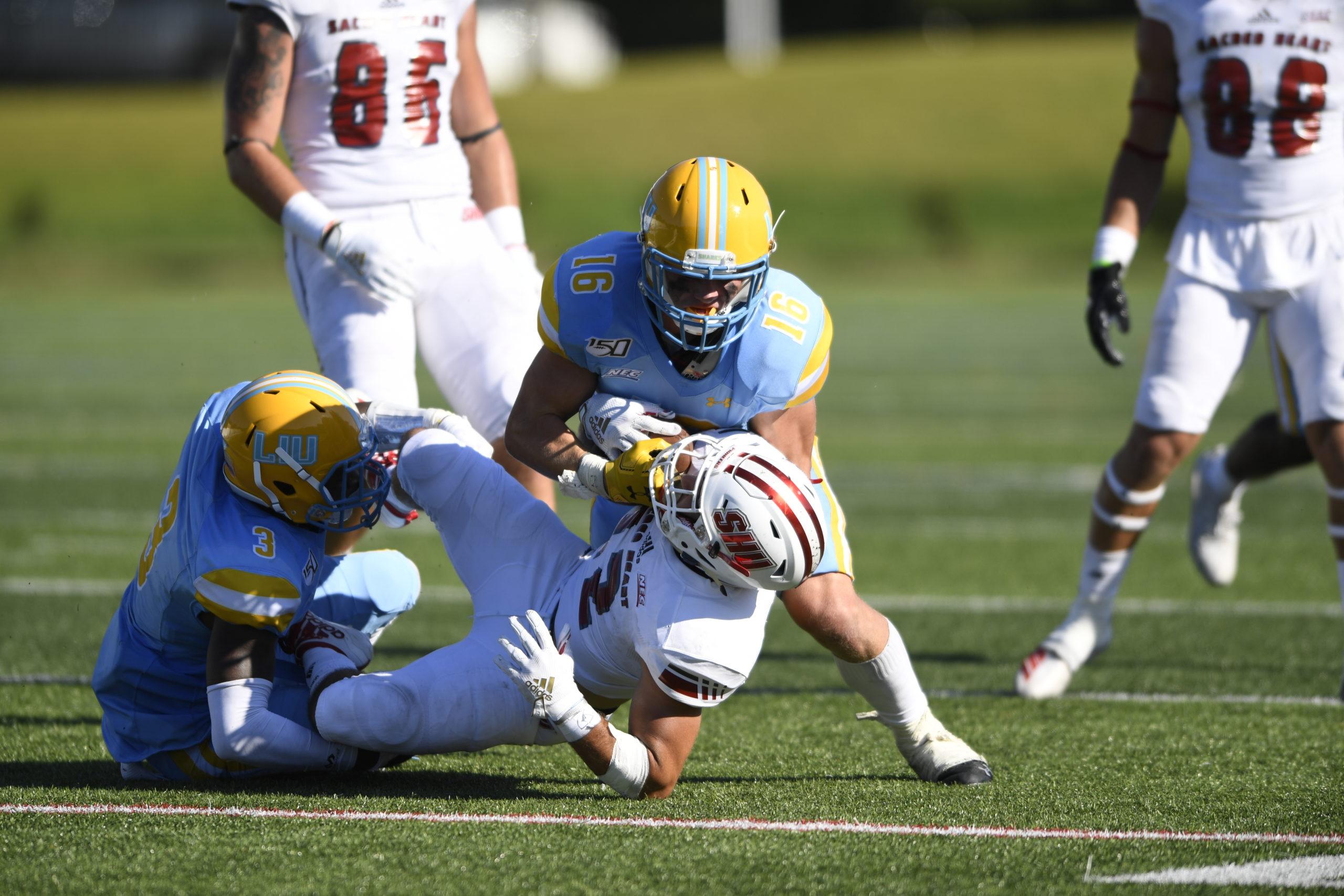 Liam McIntyre enjoyed a solid freshman season at LIU this past fall.