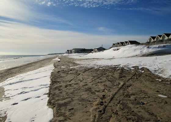 The Downtown Montauk Emergency Stabilization Project is designed to be a temporary solution to erosion. KYRIL BROMLEY