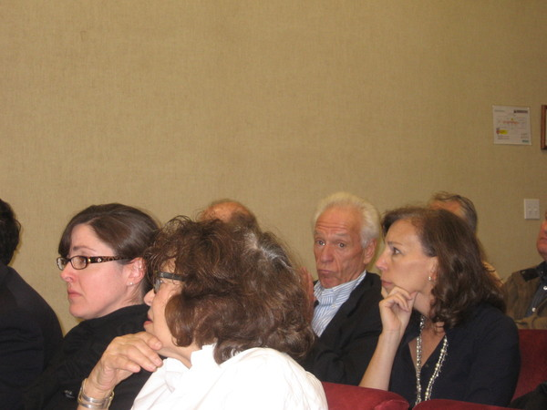 Developer Robert Morrow sat in the audience as the Southampton Town Board discussed his proposed supermarket project.