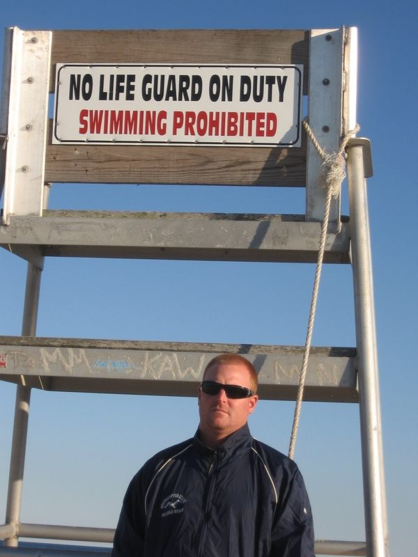 Jim Raynor said he gave up his lifeguard's seat at Rogers Beach because he was not allowed to respond to an emergency fire call.