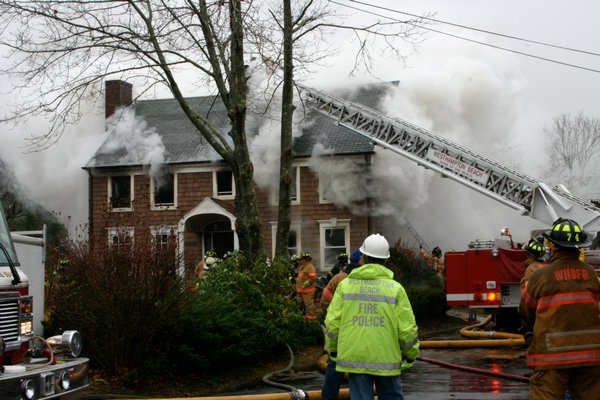 A fire destroyed George Guldi's Griffing Avenue home in Westhampton Beach on November 30