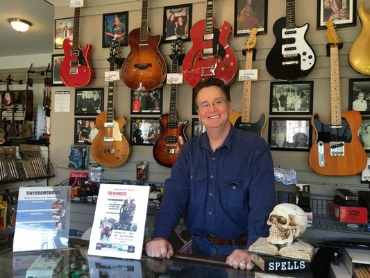 Crossroads Music in Amagansett will close after 10 years in business. LAURA WEIR