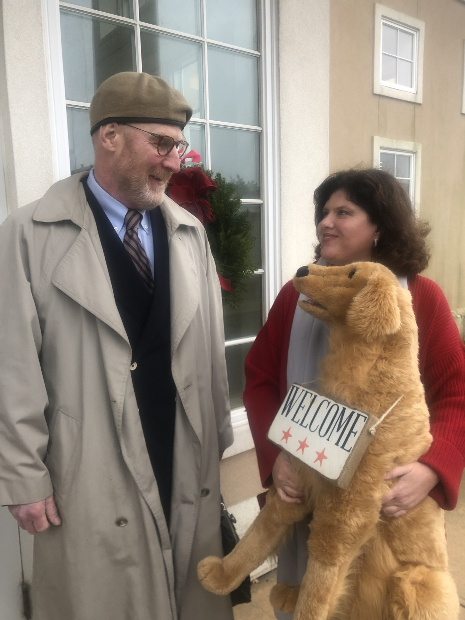 Colleen Moeller and her attorney, Dan Rodgers, have asked for a trial over the ticket issued to Ms. Moeller for placing a stuffed dog with a