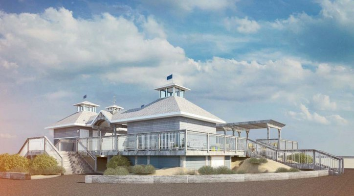A rendering of the proposed Ponquogue Pavilion. FILE PHOTO