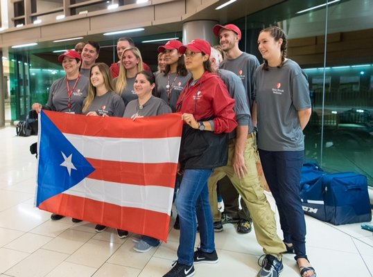 Some of the Stony Brook Medicine healthcare volunteers set to depart for Puerto Rico to provide needed relief and healthcare services in areas affected by Hurricane Maria. COURTESY STONY BROOK UNIVERSITY