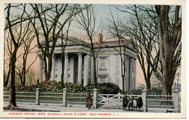 An early-20th-century postcard of Margaret Olivia Slocum Sage's Sag Harbor home