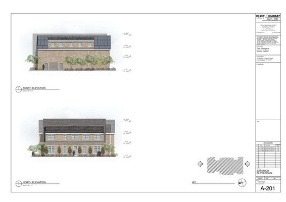 Designs for the new East Hampton Senior Center Courtesy Savik & Murray
