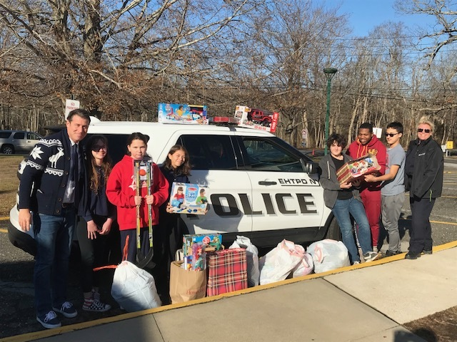Springs School's junior high Student Council collected Toys for Tots this holiday season.