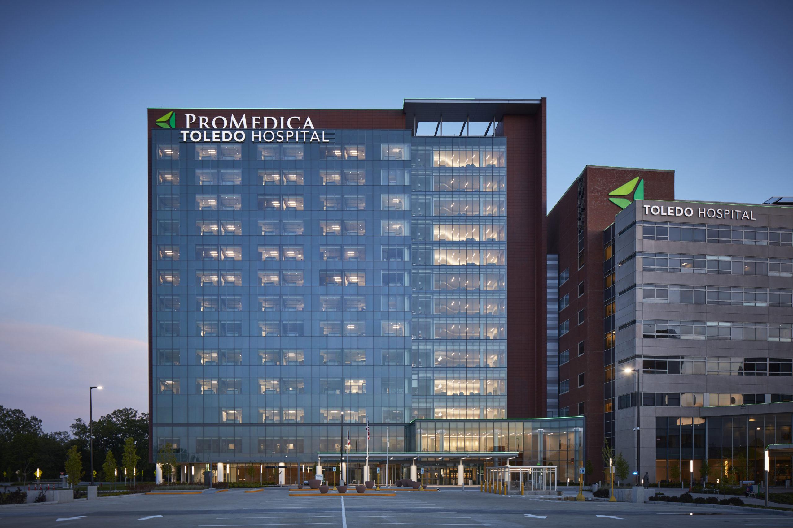 ProMedica Toledo Hospital.  COURTESY HKS ARCHITECTS