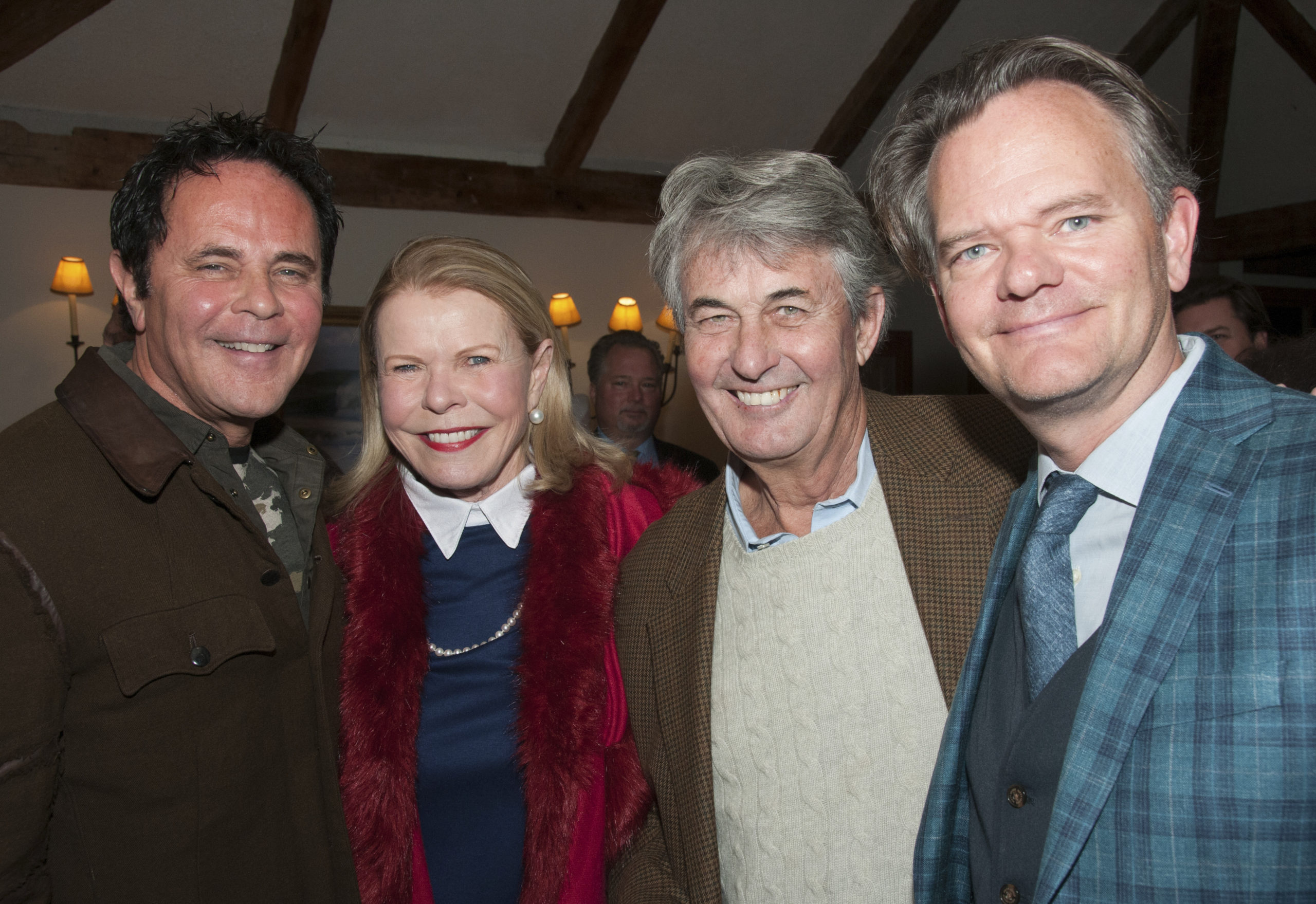 Tony Ingrao, Dale Ellen Leff, Michael Garsten and Nick Martin at  the kick-off cocktail party for the annaul East Hampton House & Garden Tour, now in its 35th year, to benefit the East Hampton Historical Society, on Friday evening at the Maidstone Club.   RICHARD LEWIN