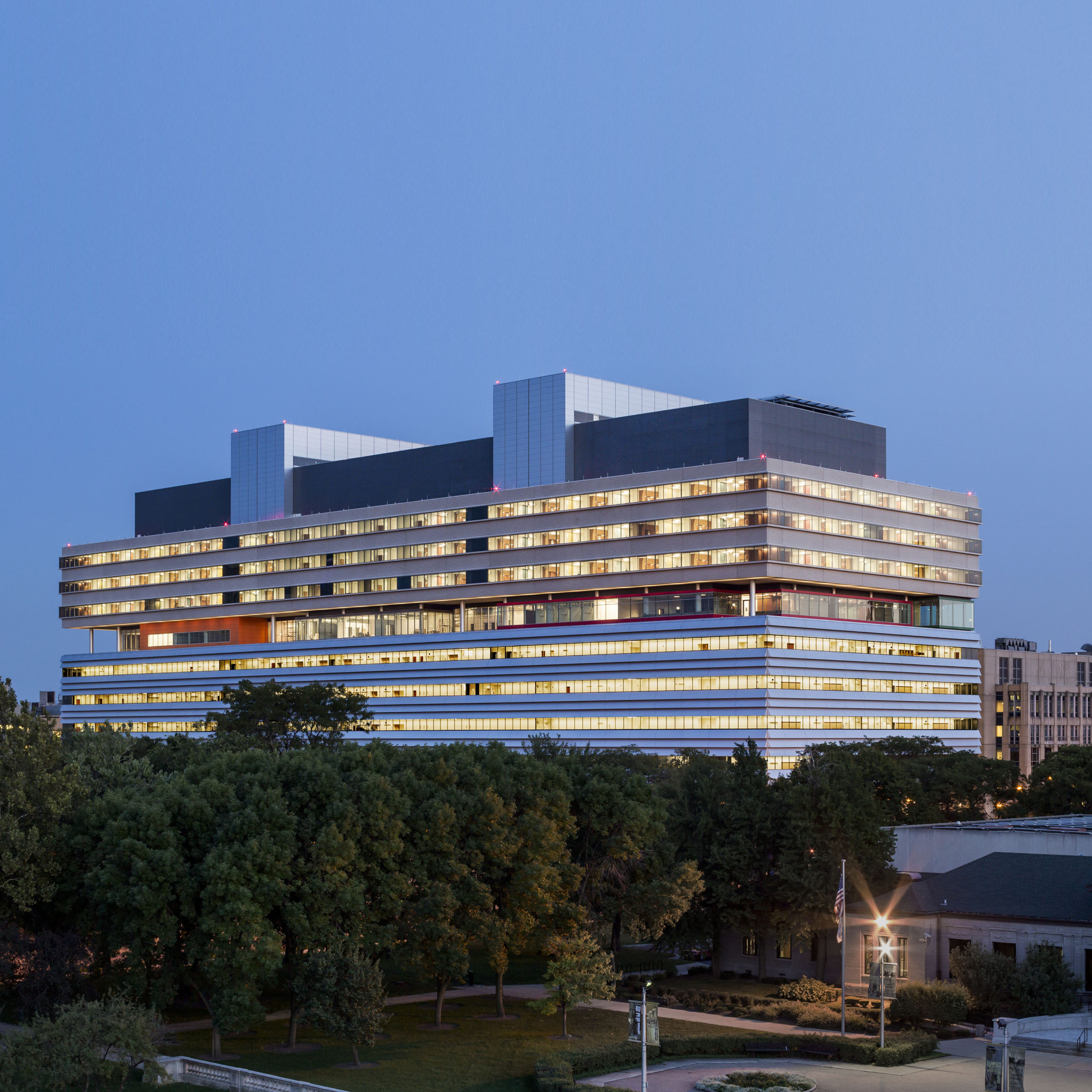 University of Chicago Medicine, Center for Care and Discovery. ©Tom Rossiter, Courtesy Rafael Viñoly Architects