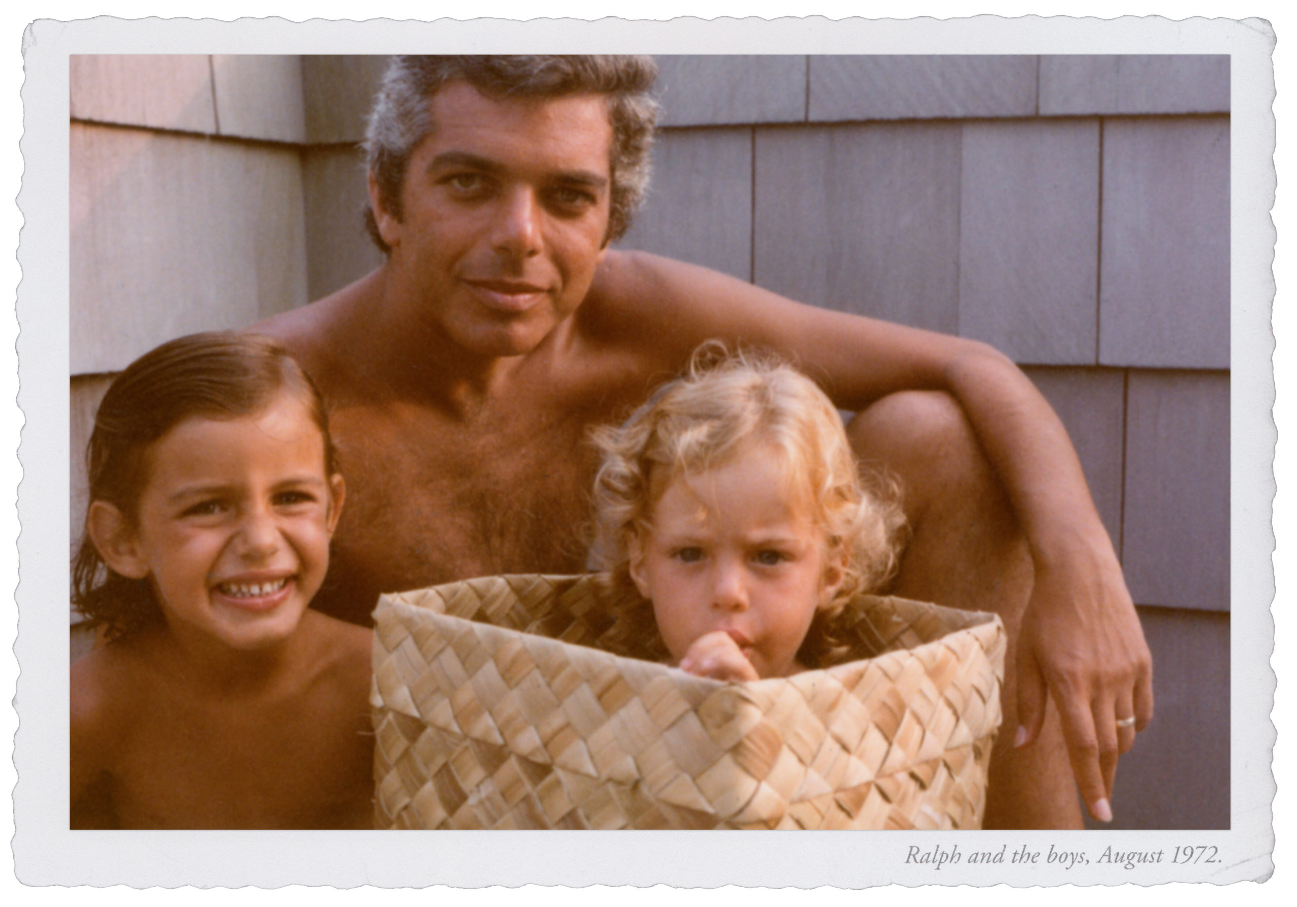 Ralph Lauren (32) with Andrew Lauren and David Lauren, Amagansett.