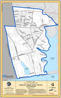 The town will extend water mains throughout the newly created Wainscott Water Supply District
