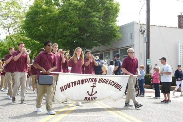 The Southampton High School Band.  DANA SHAW