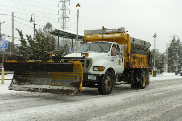 Snow plows were out in full force last Thursday and Friday as Mother Nature dumped over a foot of snow on the East End