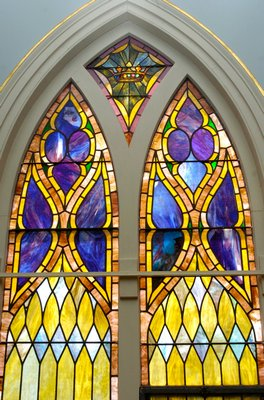 stained glass windows.    DANA SHAW
