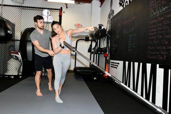Gregory Bader works with Gabby Lamia at Hamptons MVMT.  DANA SHAW