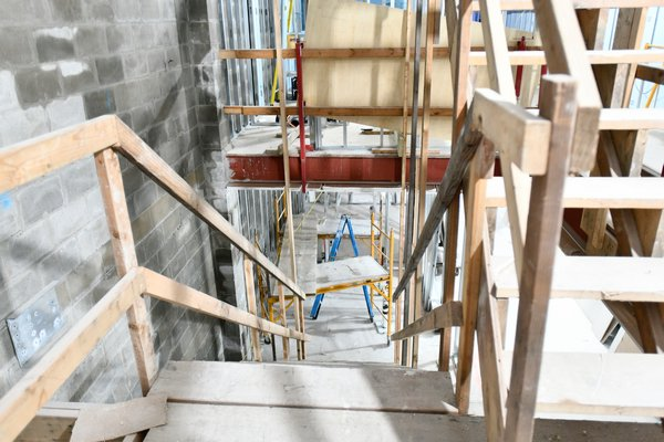 The area where the grand staircase will be.  DANA SHAW