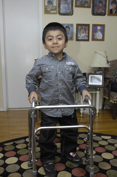 Ismael Vega now walks on his own after having an operation which used