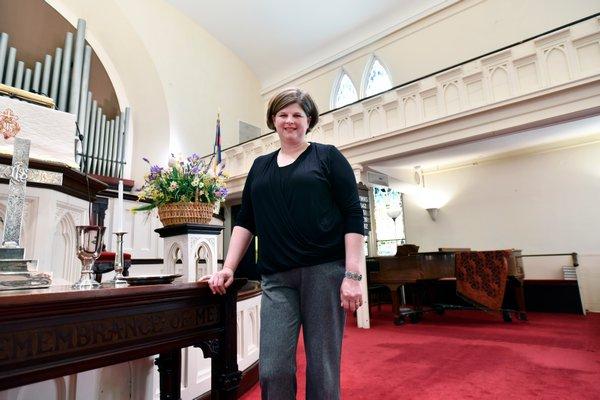 Reverend Sarah Bigwood is the new minister at the Southampton Presbyterian Church.    DANA SHAW