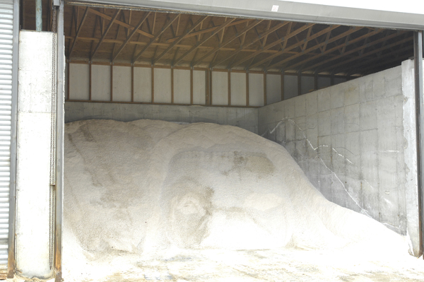 A pile of salt is ready at Southampton Village.