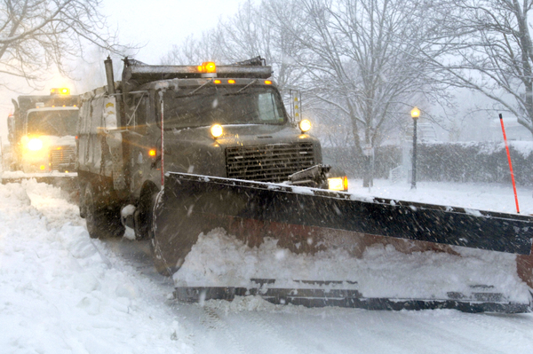 Plows were out in full force in Southampton Village on  Wednesday morning.   DANA SHAW