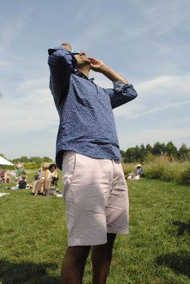 watched the eclipse on Monday at the Parrish Art Museum in Water Mill. AMANDA BERNOCCO